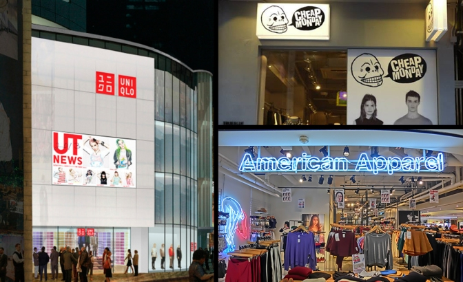2013 Fashion 回顧 – 進擊之外國品牌 (UNIQLO, American Apparel, Cheap Monday篇)
